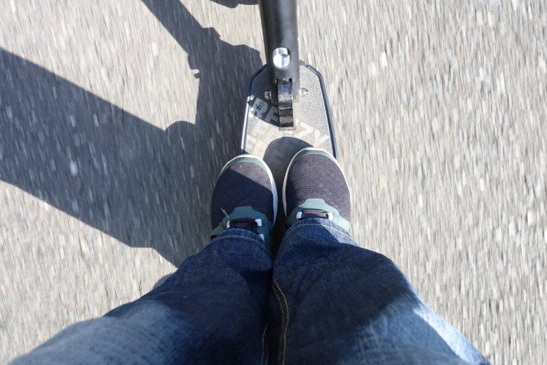 両足を乗せた画像